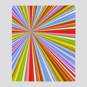 Colorful Converging Strpes Throw Blanket