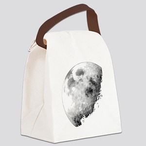 Eclipsing Moon Canvas Lunch Bag