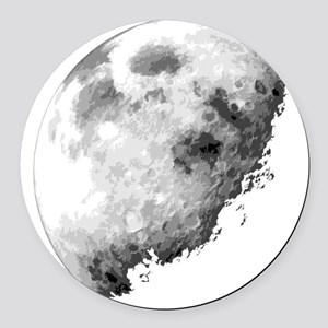 Eclipsing Moon Round Car Magnet