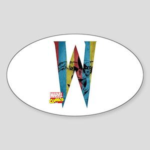 Wolverine W Sticker (Oval)