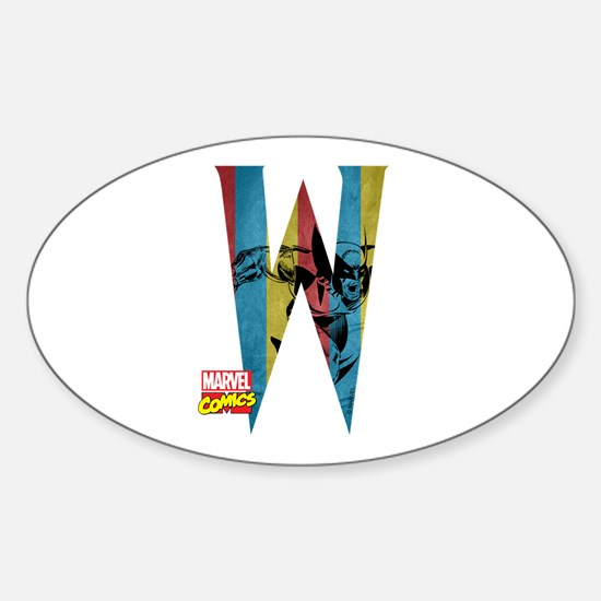Wolverine W Sticker (Oval)
