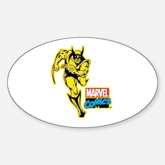 Yellow Wolverine Sticker (Oval)