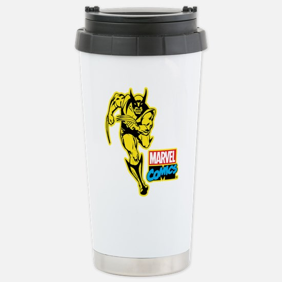 Yellow Wolverine Stainless Steel Travel Mug