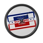 Scrapple is life Large Wall Clock
