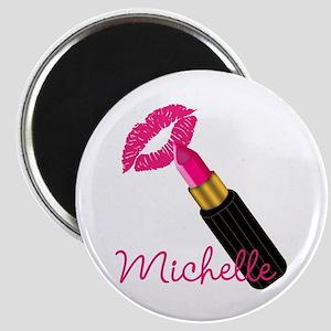 Hot Pink Lips n Lipstick Name Magnet