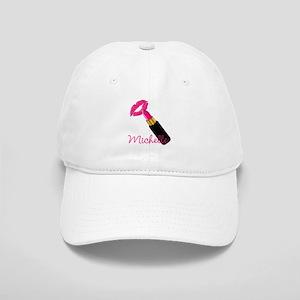 Hot Pink Lips n Lipstick Name Cap