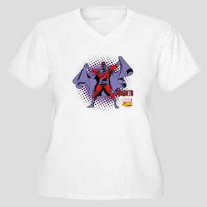 Magneto X-Men Women's Plus Size V-Neck T-Shirt