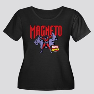 Magneto Women's Plus Size Scoop Neck Dark T-Shirt