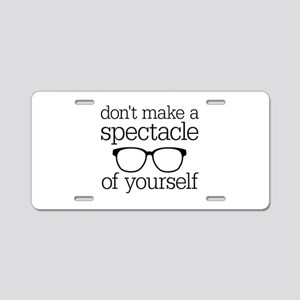 Spectacle of Yourself Aluminum License Plate
