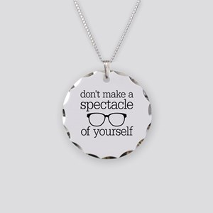 Spectacle of Yourself Necklace Circle Charm