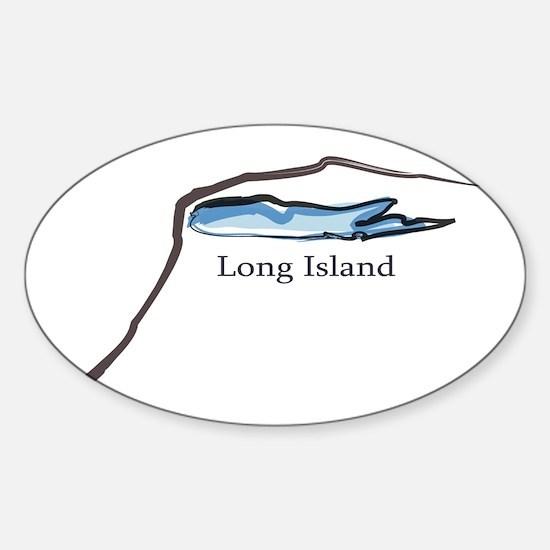 Long Island New York Oval Decal