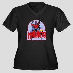 Magneto X-Me Women's Plus Size V-Neck Dark T-Shirt