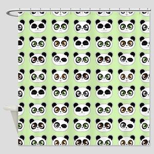 Cute Panda Expressions Pattern Shower Curtain
