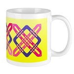 Celtic Knot - Pink X on Blue Square Mug