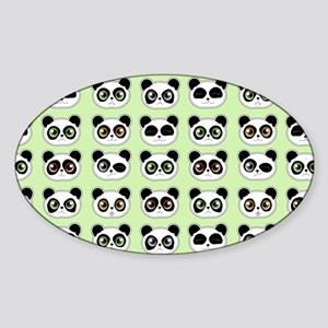 Cute Panda Expressions Pattern Sticker