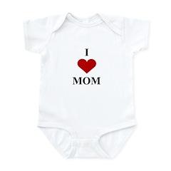 I Love (heart) Mom Infant Bodysuit