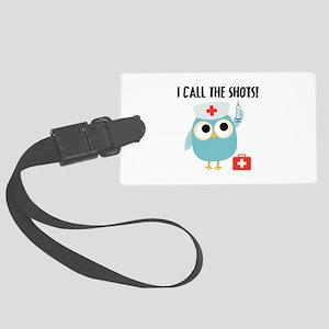 Owl Nurse Large Luggage Tag