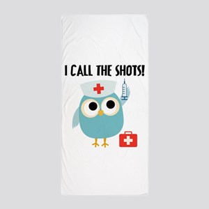 Owl Nurse Beach Towel