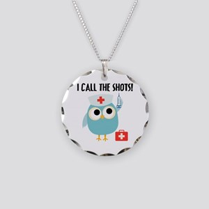 Owl Nurse Necklace Circle Charm