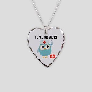 Owl Nurse Necklace Heart Charm