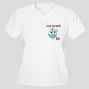 Owl Nurse Women's Plus Size V-Neck T-Shirt