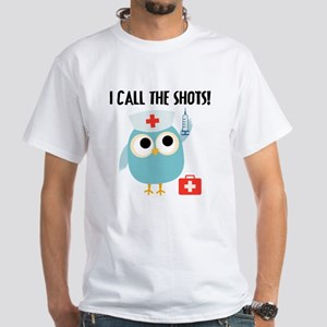 Owl Nurse White T-Shirt