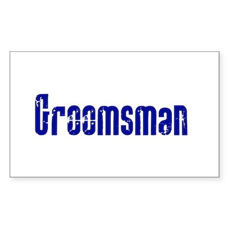 Groomsman Rectangle Sticker