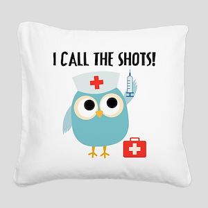 Owl Nurse Square Canvas Pillow