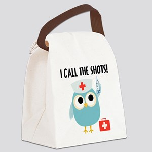 Owl Nurse Canvas Lunch Bag