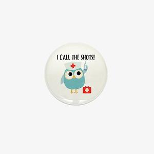 Owl Nurse Mini Button
