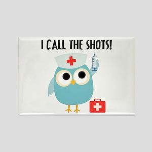 Owl Nurse Rectangle Magnet