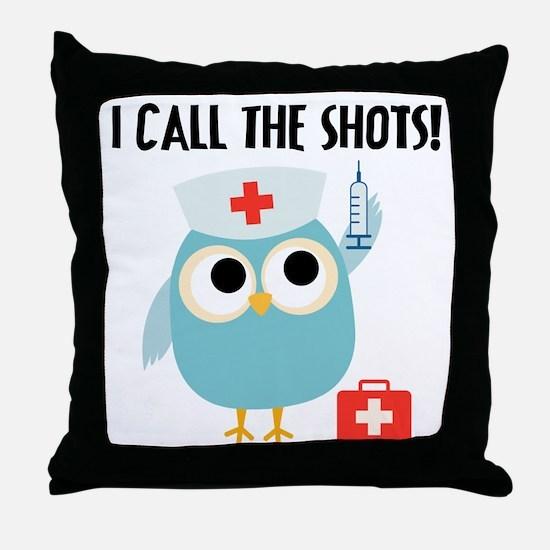 Owl Nurse Throw Pillow
