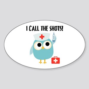 Owl Nurse Sticker (Oval)