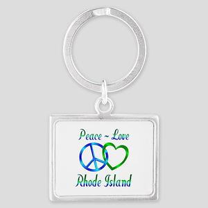 Peace Love Rhode Island Landscape Keychain