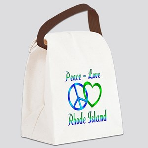 Peace Love Rhode Island Canvas Lunch Bag
