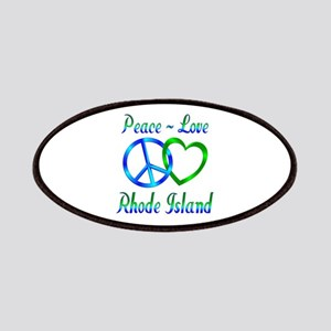 Peace Love Rhode Island Patches