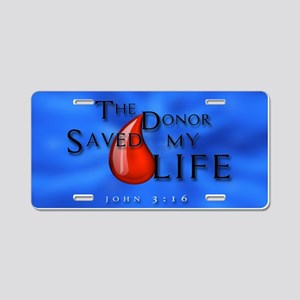 Aluminum License Plate - Donor Saved Me
