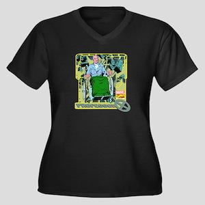 Professor X Women's Plus Size V-Neck Dark T-Shirt