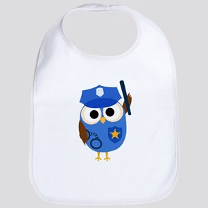 Owl Police Officer Bib