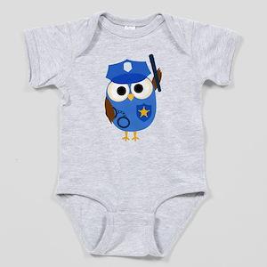 Owl Police Officer Baby Bodysuit