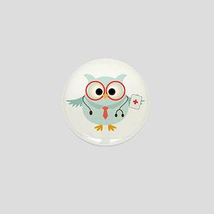 Owl Doctor Mini Button