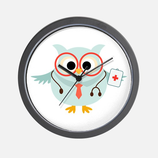 Owl Doctor Wall Clock