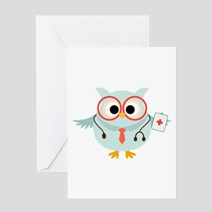 Owl Doctor Greeting Card