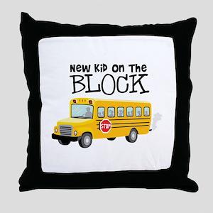 New Kid on the Block Throw Pillow