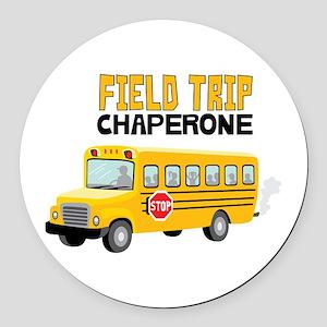 Field Trip Chaperone Round Car Magnet