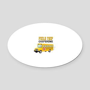 Field Trip Chaperone Oval Car Magnet