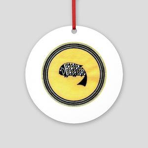 MIMBRES LONE FISH BOWL DESIGN Ornament (Round)