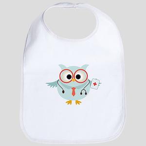 Owl Doctor Bib