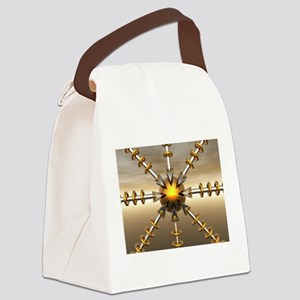 Solar Power Structure Canvas Lunch Bag
