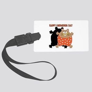 Happy Groundhog Day Large Luggage Tag